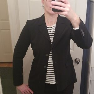 Michael Kors classic black 2 button blazer